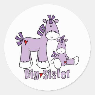 Sock Ponies Big Sister Classic Round Sticker