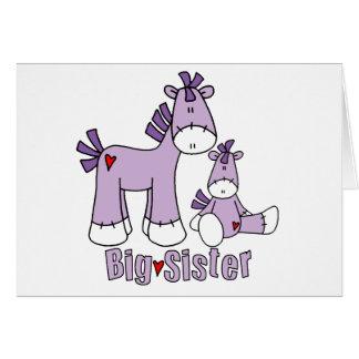 Sock Ponies Big Sister Note Card