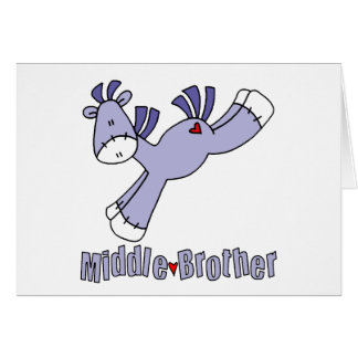Sock Pony Middle Brother Note Card