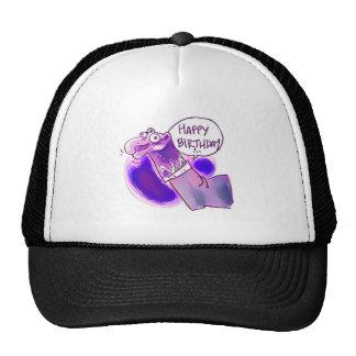 sock puppet say happy birthday trucker hat