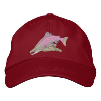 Sockeye Salmon Embroidered Hat