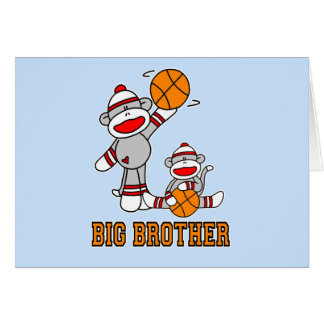 Sockmonkey Basketball Big Brother Stationery Note Card