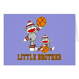 Sockmonkey Basketball Little Brother Note Card