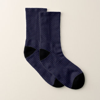 Socks Dark Blue with Golden Dots
