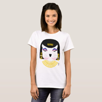 Socks Doll Animal Cleopatra Graphic T-shirt. T-Shirt