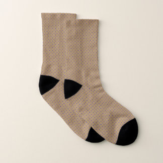 Socks Gold with Royal Blue Dots