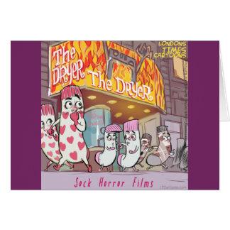 Socks Horror Films The Dryer Funny Card