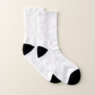 Socks White with Golden Dots