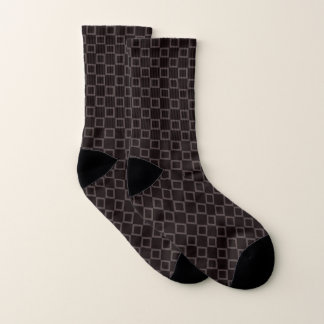 Socks with classic brown and chocolate design