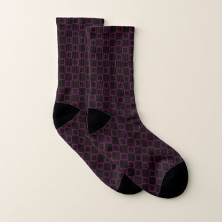 Socks with classic purple and brown design