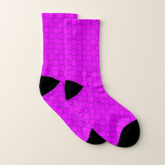 Socks with classic purple and violet design