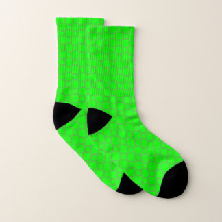 Socks with classic vibrant lime green design 1