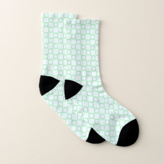Socks with classic white and green design 1