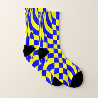 Socks with classic yellow and blue design