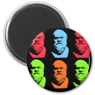 Socrates Collage 2 Inch Round Magnet