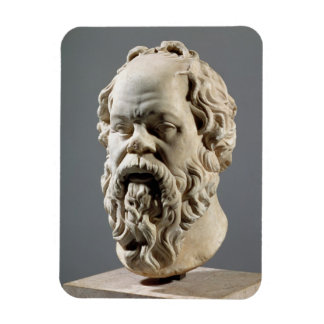 Socrates, marble head, copy from a bronze from the rectangular photo magnet