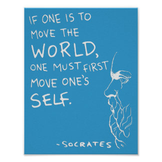 "Socrates' ""Move The World"" Quote Poster (Blue)"