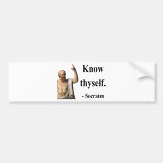 Socrates Quote 5b Bumper Sticker