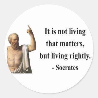 Socrates Quote 6b Classic Round Sticker