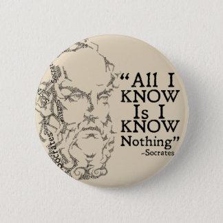 Socrates Sketicism Button