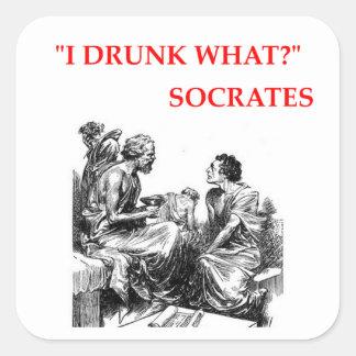 SOCRATES SQUARE STICKER