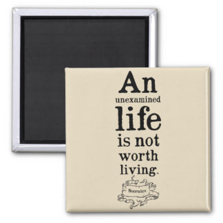 Socrates 'Unexamined life' Quote Magnet