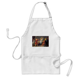 "Socrates ""Wisdom/Wonder"" Quote Gifts Tees & Cards Standard Apron"