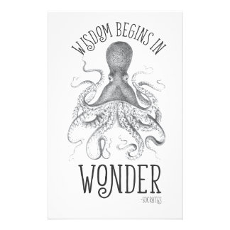 Socratic Cephalopod Custom Stationery