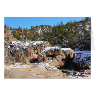 Soda Dam just north of Jemez Springs, New Mexico Card