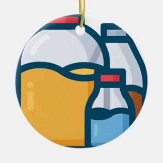 Soda Juice Water Ceramic Ornament