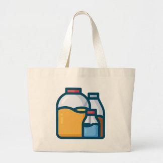 Soda Juice Water Large Tote Bag