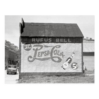 Soda Pop Billboard, 1938 Postcard