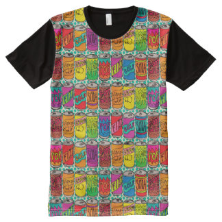 Soda Pop Cans All-Over-Print T-Shirt