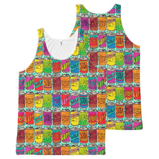 Soda Pop Cans All-Over-Print Tank Top
