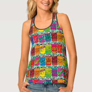 Soda Pop Cans Tank Top