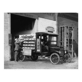 Soda Pop Delivery Truck, 1924 Postcard