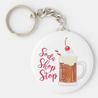 Soda Shop Stop Basic Round Button Keychain