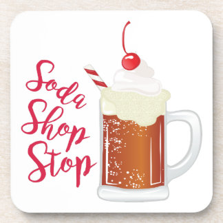 Soda Shop Stop Drink Coaster