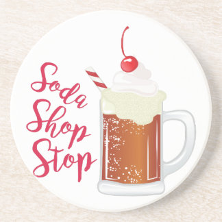 Soda Shop Stop Drink Coasters