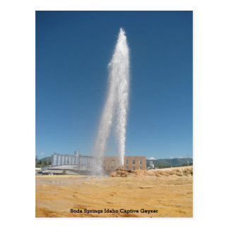 Soda Springs Idaho Captive Geyser Postcard