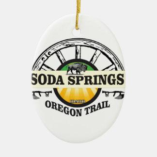 soda springs oregon trail art ceramic ornament