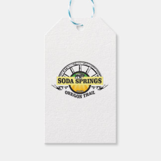 soda springs oregon trail art gift tags