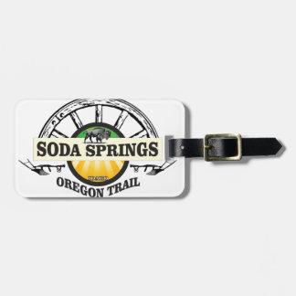 soda springs oregon trail art luggage tag