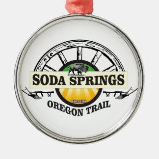 soda springs oregon trail art metal ornament