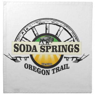 soda springs oregon trail art napkin