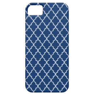 Sodalite Blue And White Moroccan Trellis Pattern iPhone 5 Cases