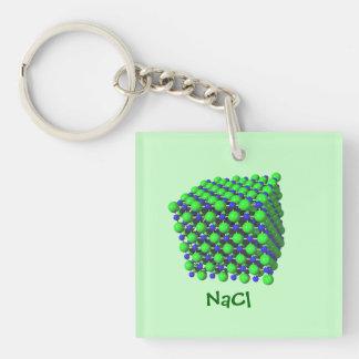 Sodium Chloride Molecular Model key chain