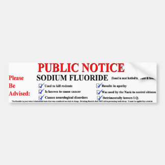 Sodium Fluoride Bumper Sticker