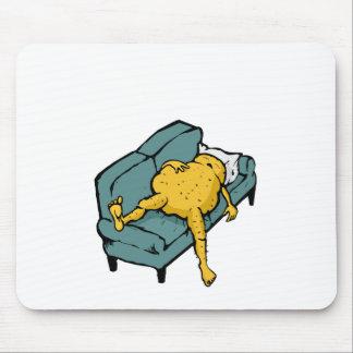 Sofa potato mouse pad