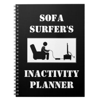 Sofa Surfer's Inactivity Planner Notebook